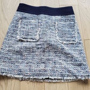 J.Crew Tweed Mini Skirt with Fringe